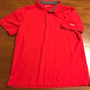 Under Armor Red Polo size XL
